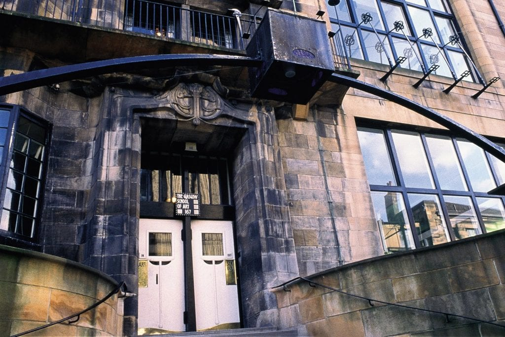 The Glasgow School of Art, designed by Charles Rennie Mackintosh.