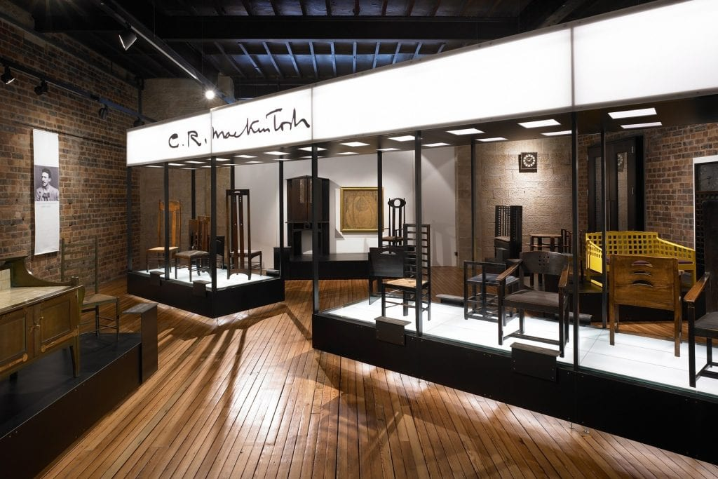 The Mackintosh furniture gallery at Glasgow School of Art.