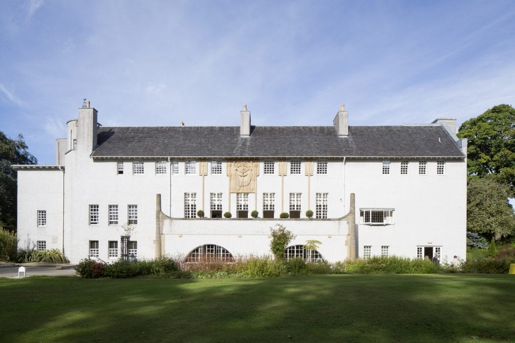Exterior of House for an Art Lover by Charles Rennie Mackintosh.