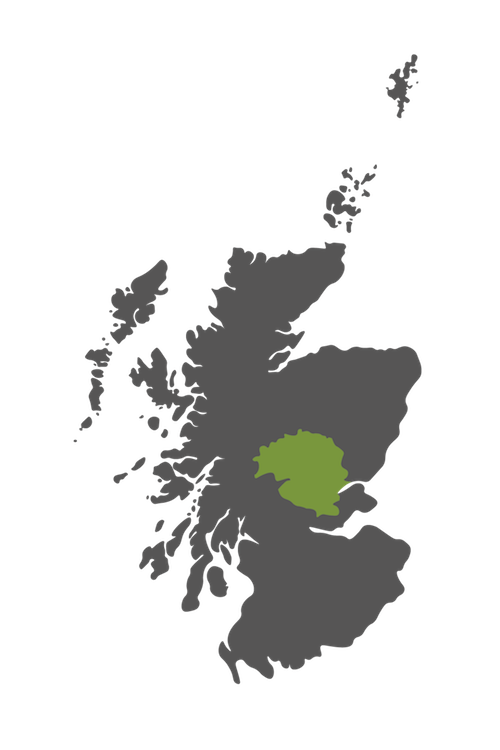 perthshire map scotland