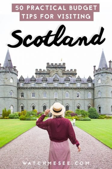 Travel Scotland without breaking the bank! These 50 practical money saving tips will show you how to travel Scotland on a budget!