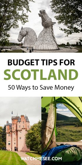 Learn how to travel Scotland on a budget! Visit Scotland without breaking the bank by following these 50 money-saving tips!