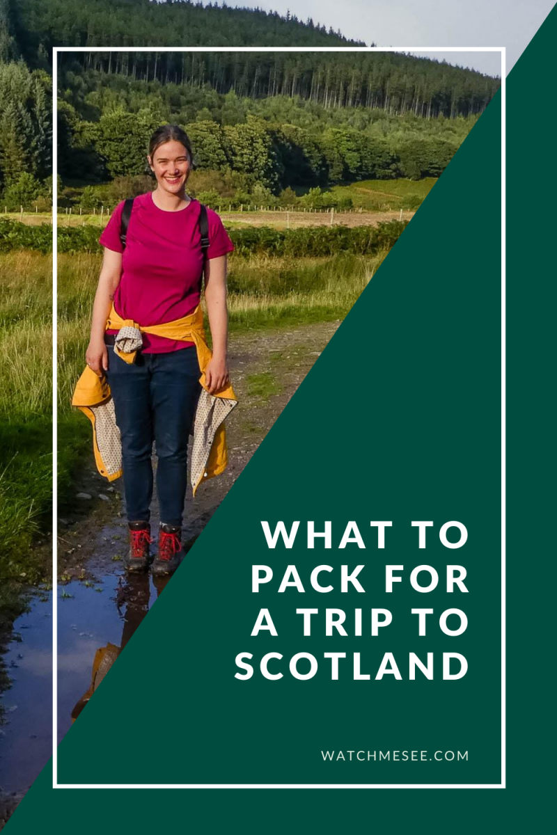 Pack your bags for Scotland! This post explains what to wear in Scotland and includes a downloadable packing list for Scotland.