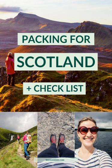 Find out what to wear in Scotland in every season, must have's on your packing list and my ultimate packing list for Scotland.