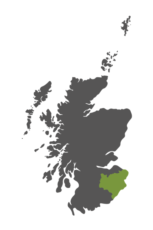 scottish borders map scotland
