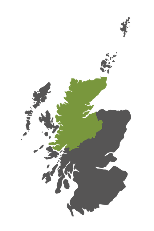 scottish highlands map scotland