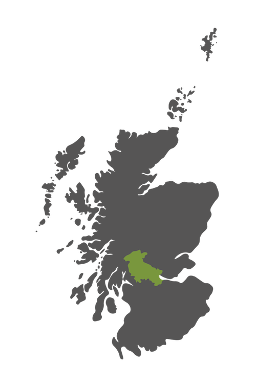 stirlingshire map scotland
