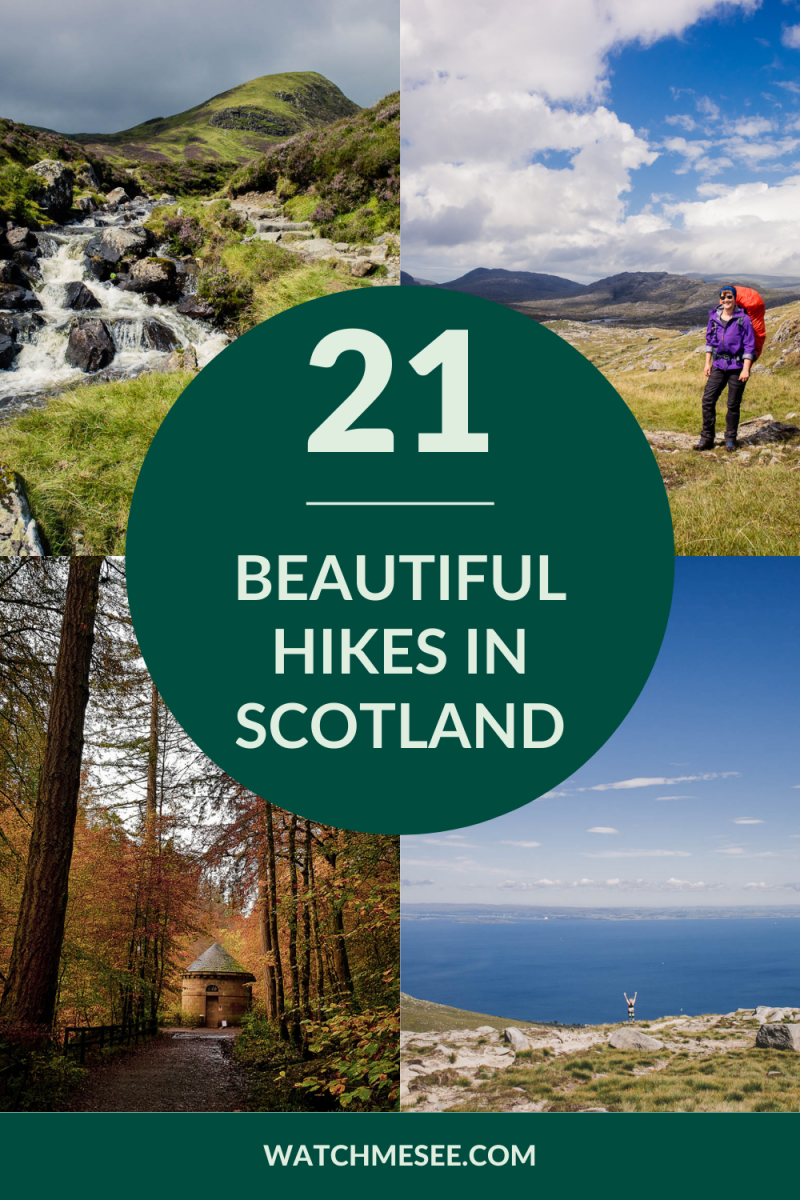 Scotland is a hiker's paradise! Click here for a guide to some of the best hikes in Scotland from the peaks of the Scottish Highlands to coastal trail, waterfall valleys and rolling hills.