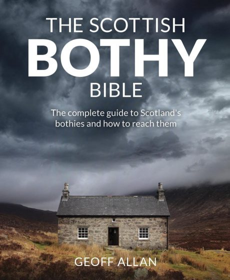 book cover of the scottish bothy bible by Geoff Allan